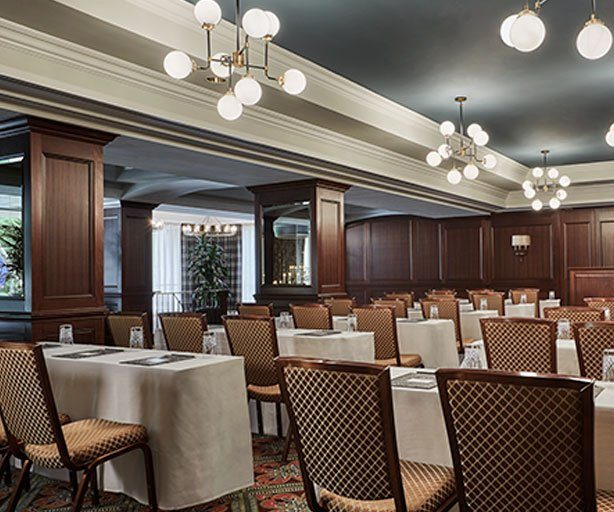 Conference Setting in the Huron Ballroom