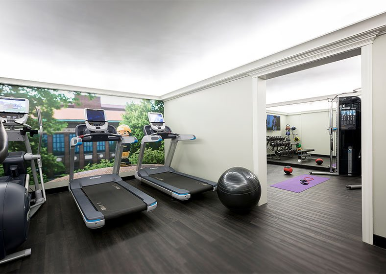 fitness room at graduate ann arbor