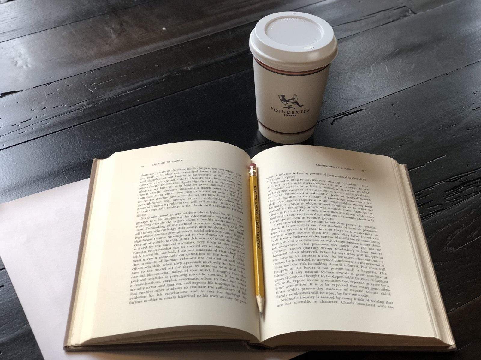 Text Book and Poindexter Coffee Cup