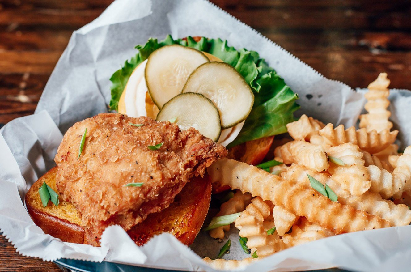 Fried Chicken Sandwich in The Foundry