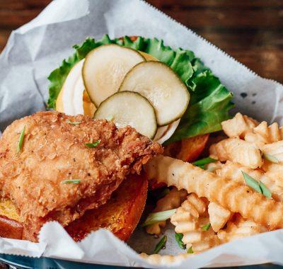 Fried Chicken Sandwich in The Foundry