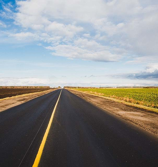 open road with an open sky overhead