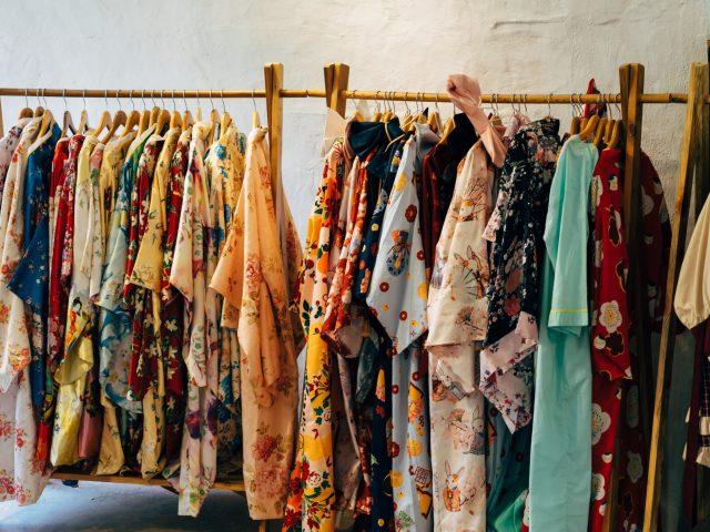 dresses on a hanger