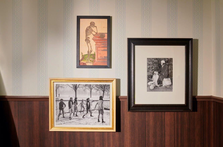 vignette of art in guestroom