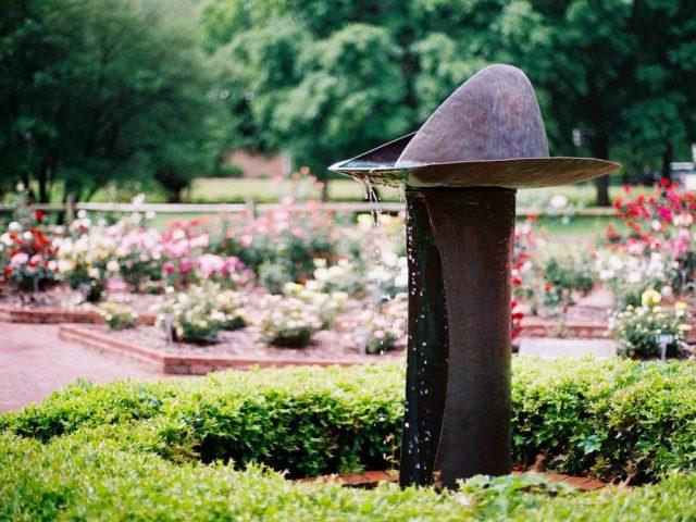 gene strowd community garden statue