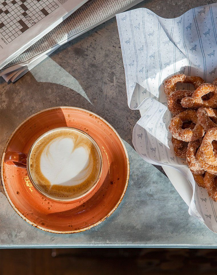 Breakfast Coffee and donuts
