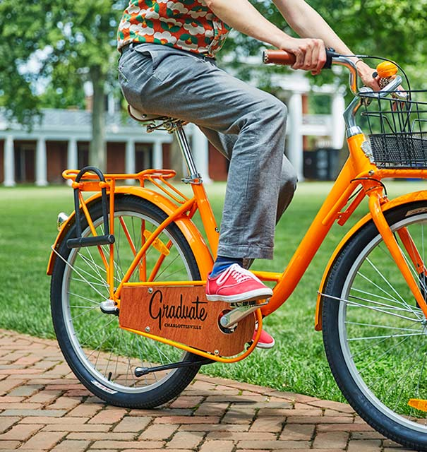 Rent bicycles for free and explore Charlottesville during your stay