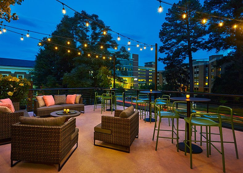 Second Floor Terrace With Outdoor Seating At Graduate Charlottesville