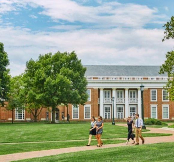 walking through University of Virginia