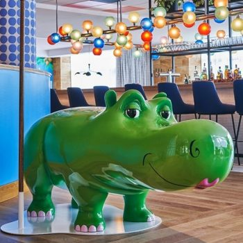 statue of Fiona the hippo
