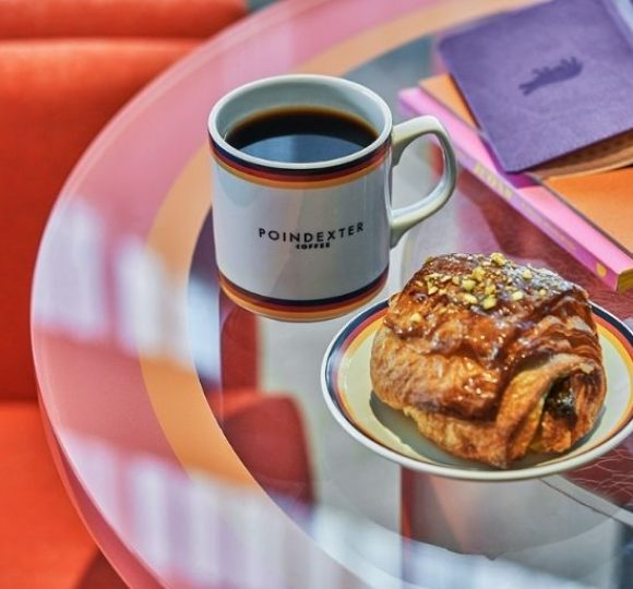 coffee and pastries from Poindexter