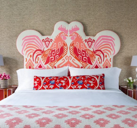A bed with a view of the headboard