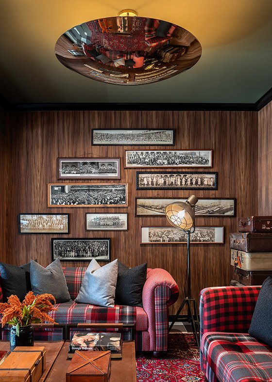 Gallery wall of vintage photographs