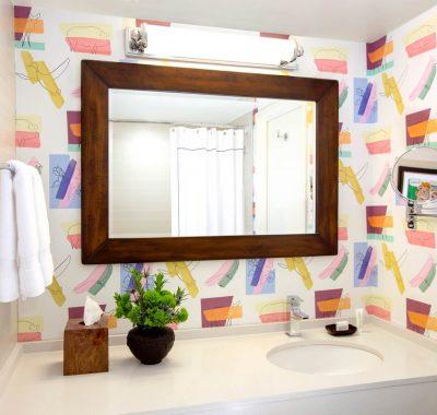 Bathroom Mirror in colour-full bathroom