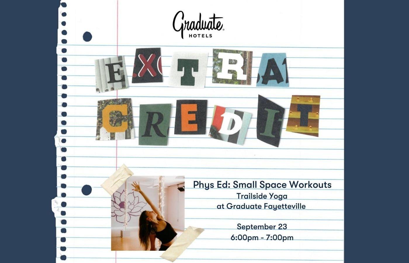 Trailside Yoga at Graduate Fayetteville