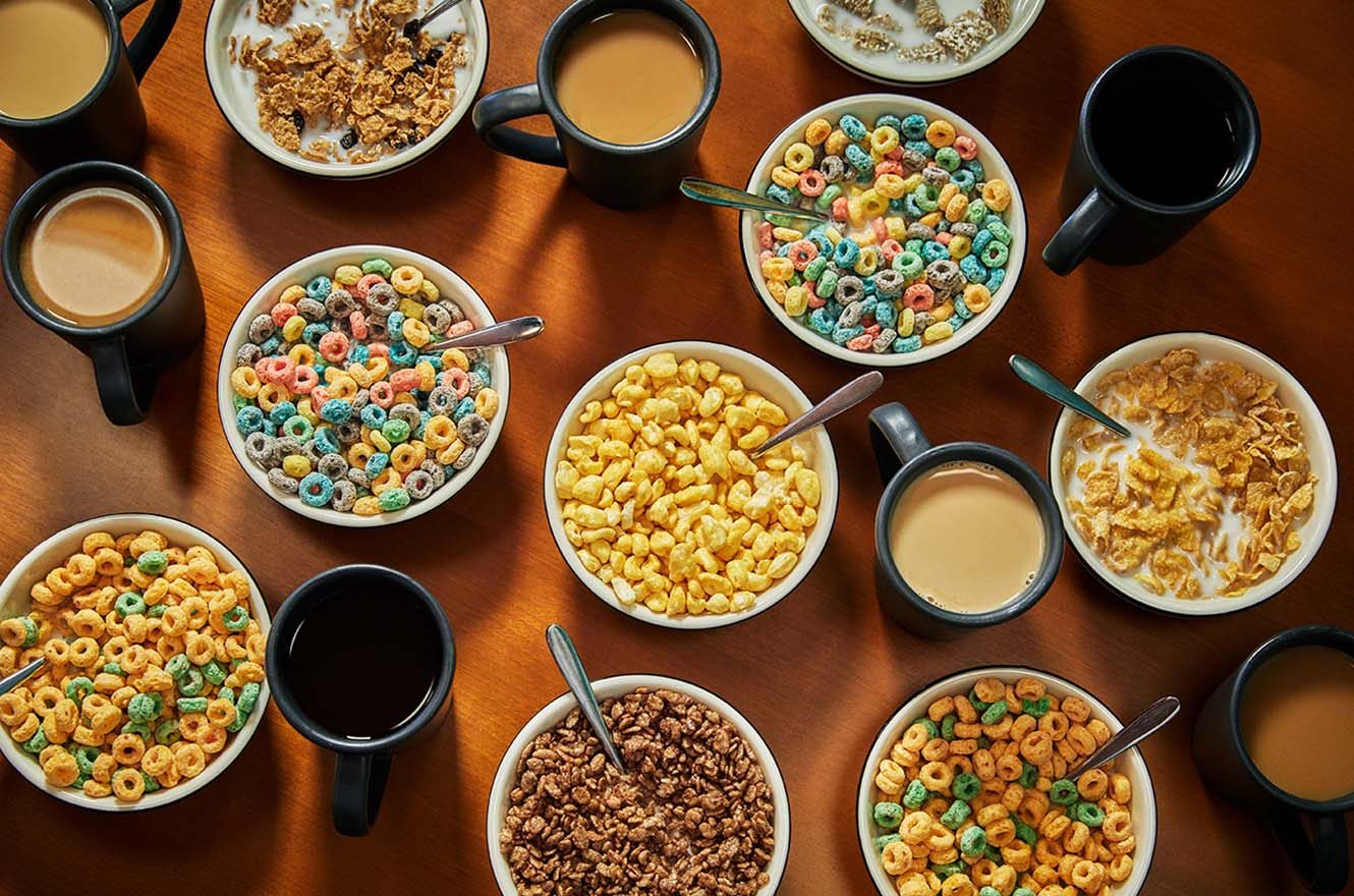 Cereal and hot beverages
