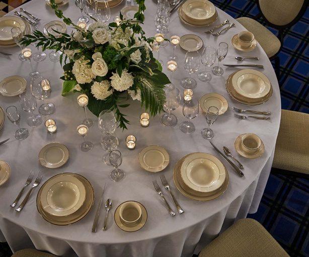 Dinner Setting - Wayne Ballroom Wedding