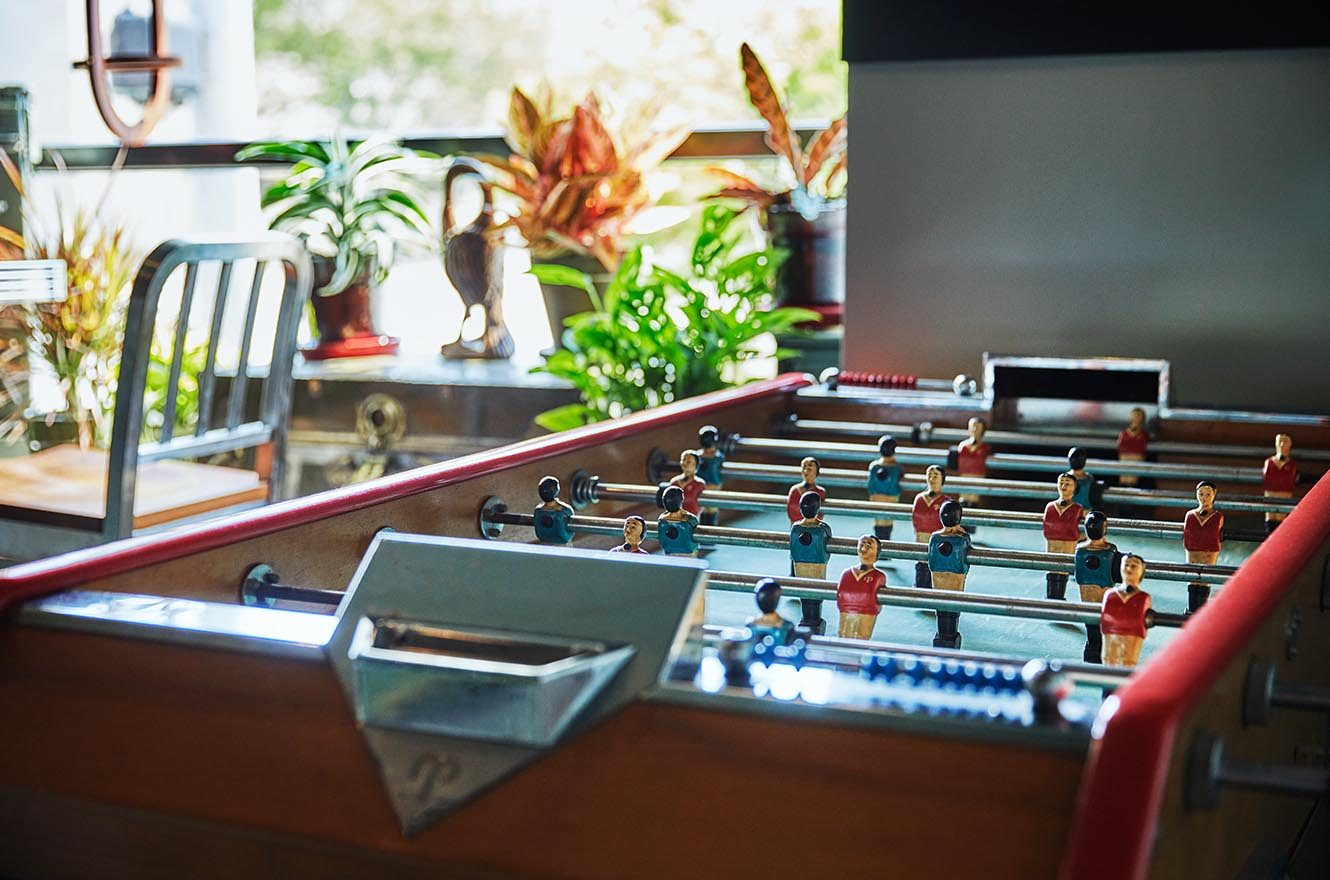 foosball table at graduate lincoln