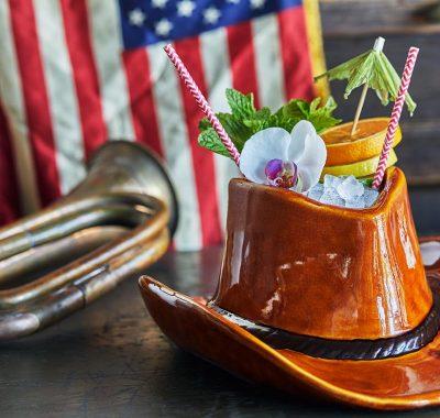 cowboy hat tiki drink from john j's tiki bar