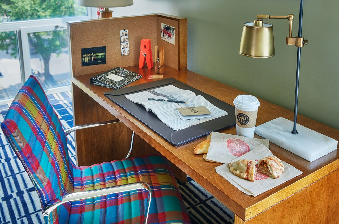 Desk With Breakfast At Graduate Madison JHo