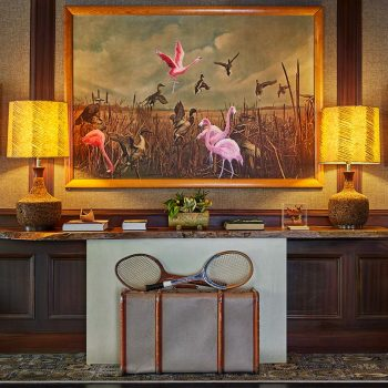 Flamingo Painting In The Lobby At Graduate Madison