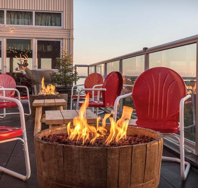 rooftop fire pit on graduate madison