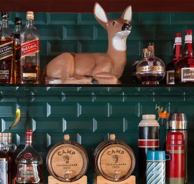 liquor on bar racks at graduate madison