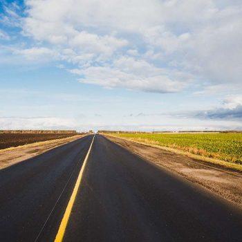 open road with open skies overhead