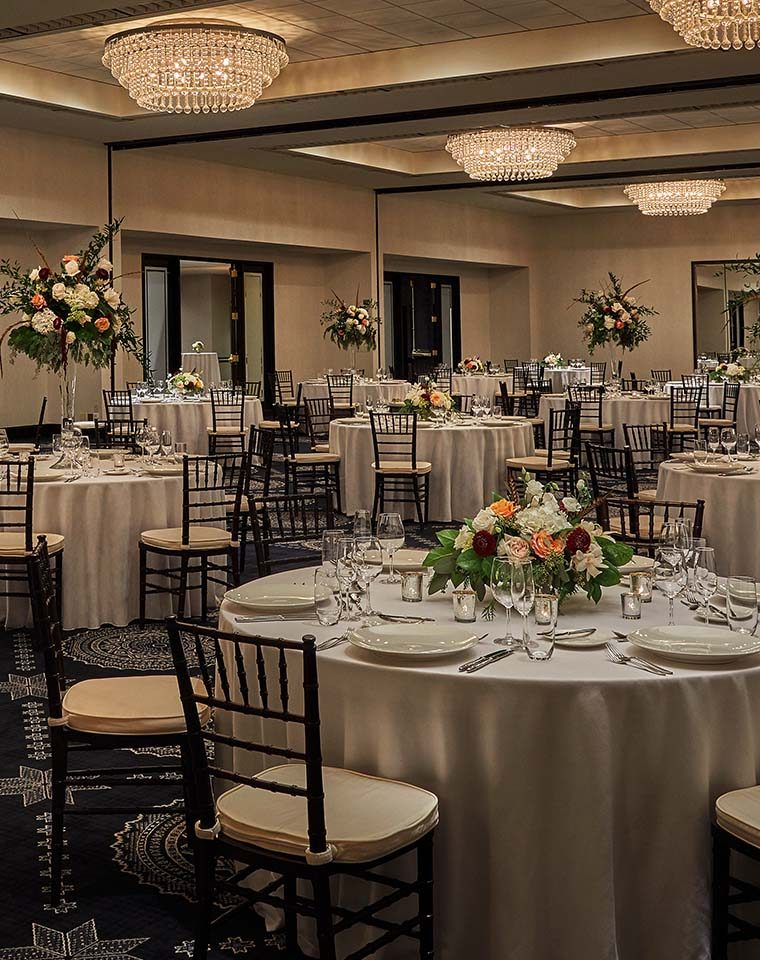 formal ballroom setup at graduate minneapolis