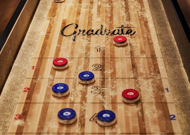 shuffleboard table in graduate minneapolis