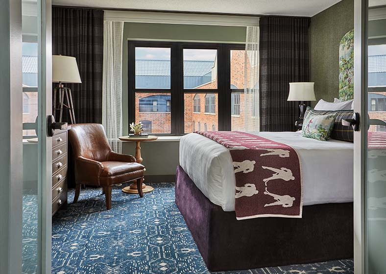 Private master bedroom in Presidential Suite