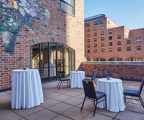 outdoor formal table setup at graduate minneapolis