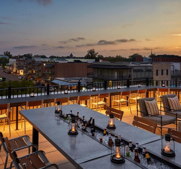 The Coop Rooftop Deck Overlooking The Square