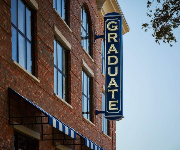 graduate oxford logo on the hotel exterior