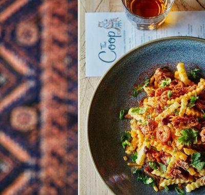 pasta dish at the coop restaurant in gradaute oxford
