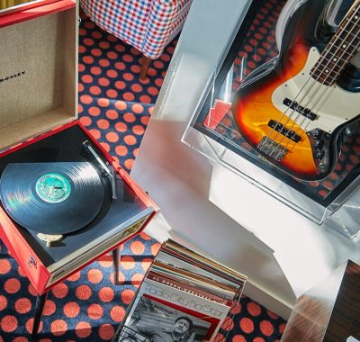 Record Player And Guitar At The Graduate Oxford