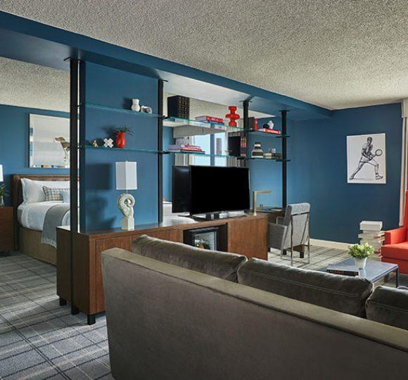 large living room in graduate richmond suite