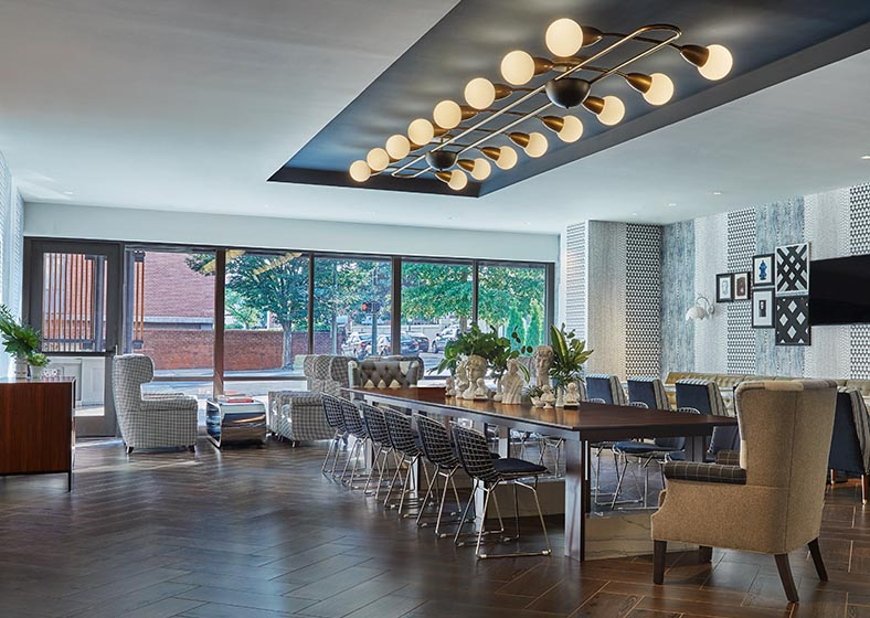 Brookfield's comfortable and trendy dining area