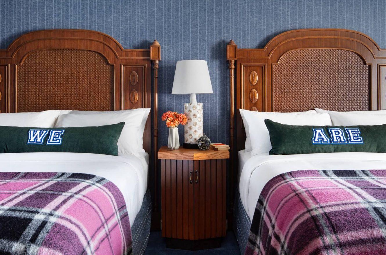 Queen Beds in a hotel room