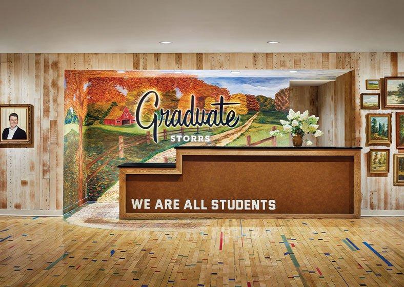 front desk at Graduate Storrs
