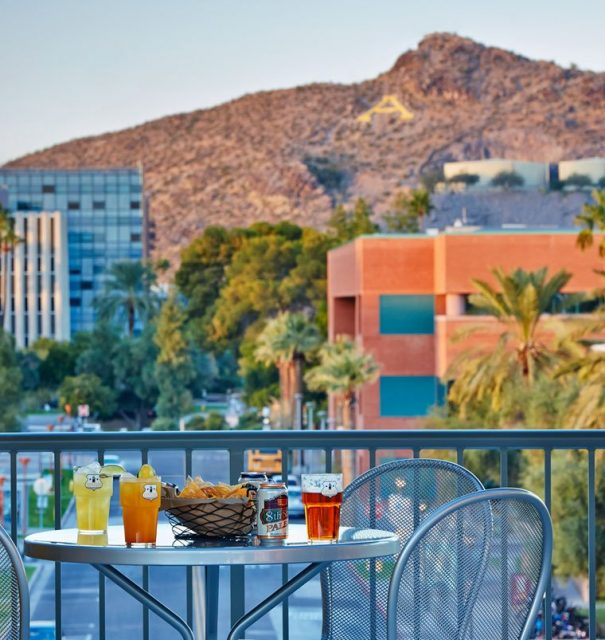 Set table from Tapacubo on the roof overlooking Tempe