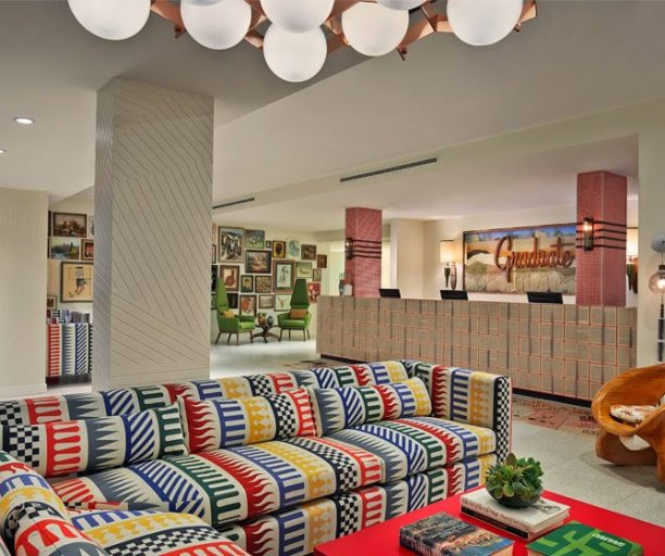 The lobby furnished with unique pieces representing Tempe