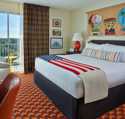 King room with a view of downtown Tempe
