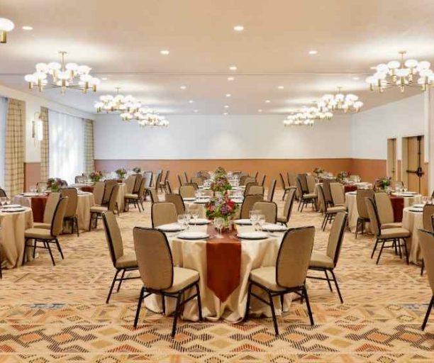 Button Ballroom set for an event