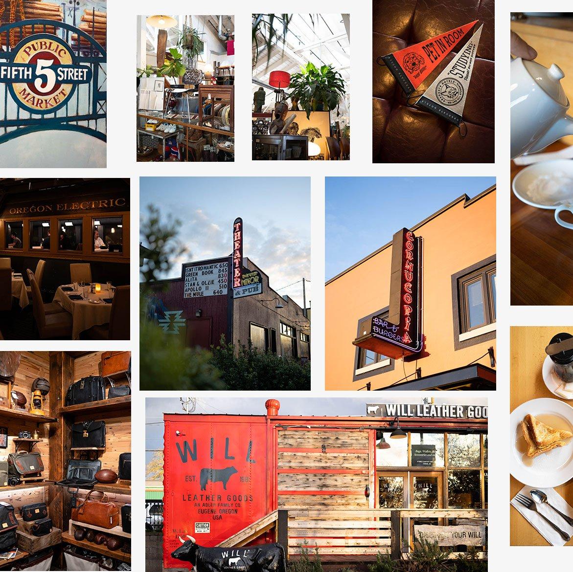Collage of images showing Eugene, Oregon