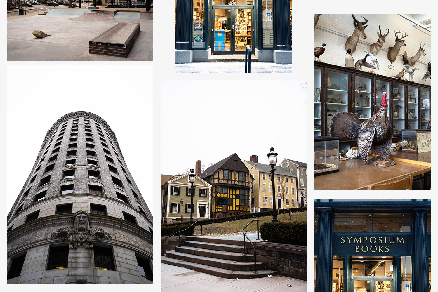Collage of images showcasing Providence, Rhode Island
