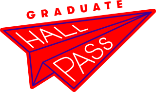 Graduate Hall Pass Paper Airplane Logo
