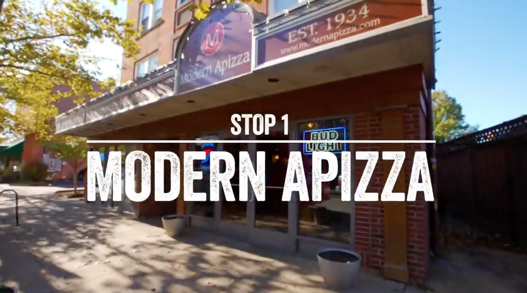 Exterior of Modern Apizza in New Haven