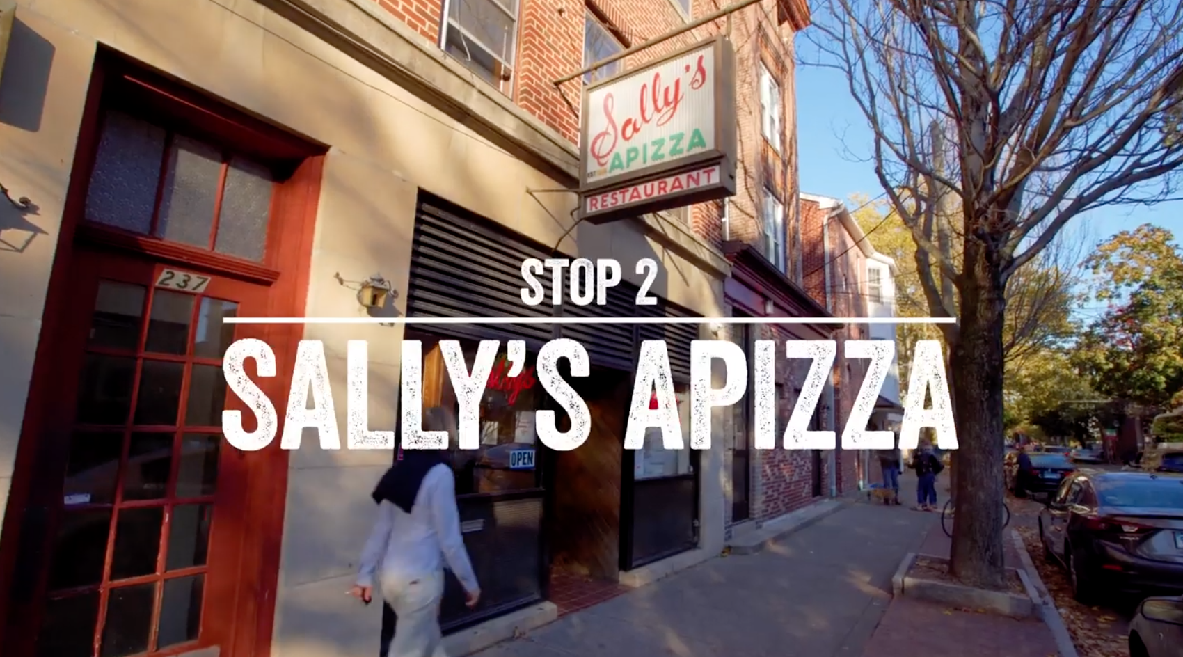 Exterior of Sally's Apizza in New Haven