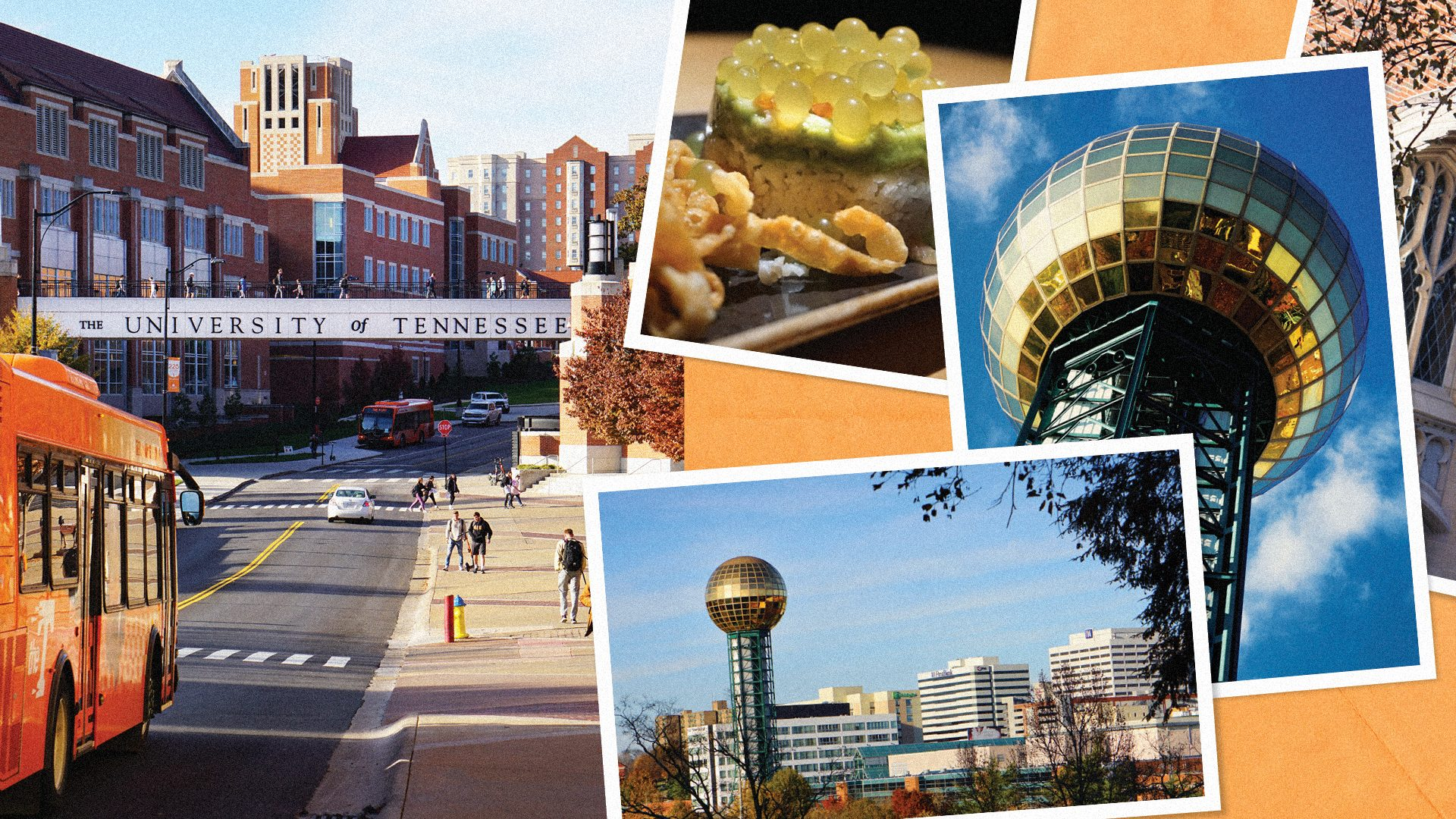 Collage of images showcasing Knoxville, Tennessee